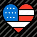 flag, heart shaped, stars, united states, united states of america, usa icon