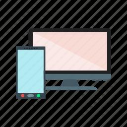 display, mobile, monitor, screen icon