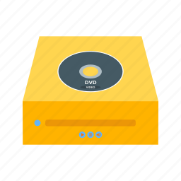 cd player, compact, disk, dvd, dvd player icon