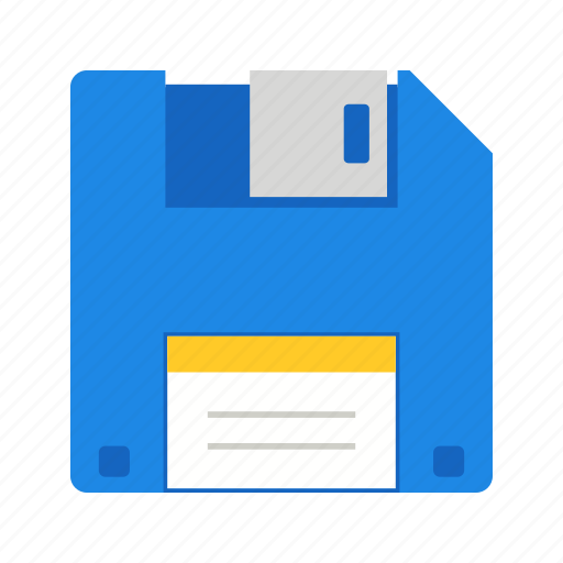database, disk, diskette, file, floppy, storage icon