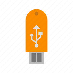 disk, storage, usb icon