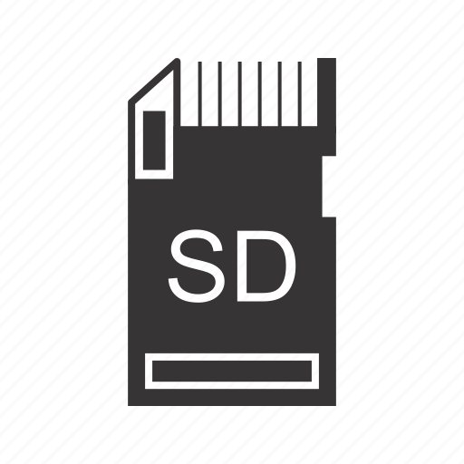 database, drive, file, memory card, sd, storage icon
