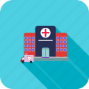 building, health, healthcare, hospital, medical icon