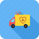 ambulance, healthcare, medical, vehicle icon