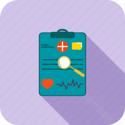 chart, medical, report icon