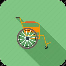 healthcare, medical, wheelchair icon