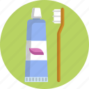hygiene, brush, paste, toothbrush, toothpaste