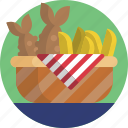 food, fruit, healthy, bananas icon