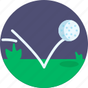 golf, ball, bounce, field, playing, golfing