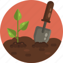 gardening, tools, spade, trowel, crop, gardening equipment icon