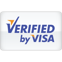 by, verified, visa icon