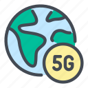 5g, network, internet, globe, world, worldwide