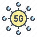 5g, network, internet, connect, connection