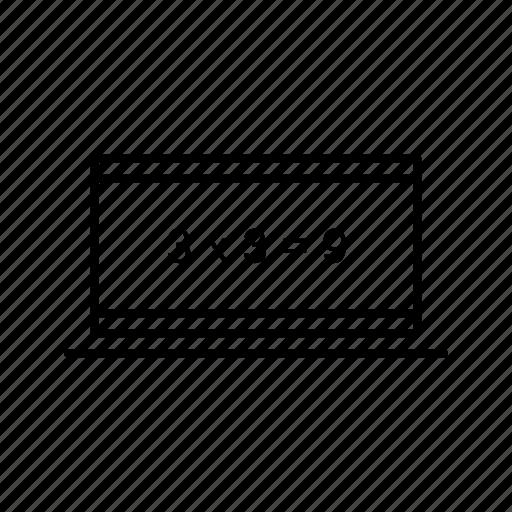 calculation, online icon