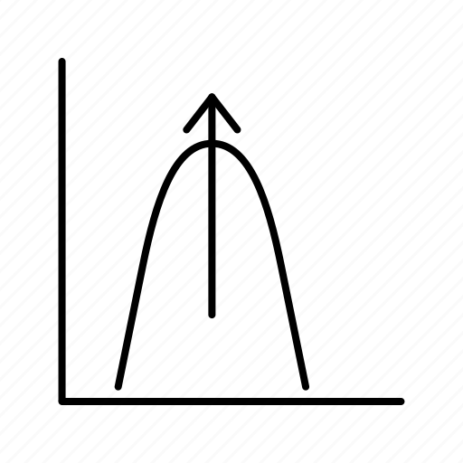 bell, graph, shaped icon