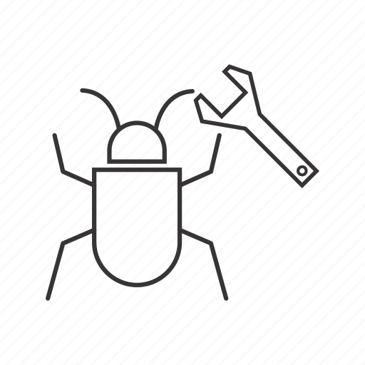 bug, fixing icon