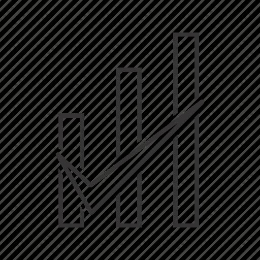 bar, checked, graph icon