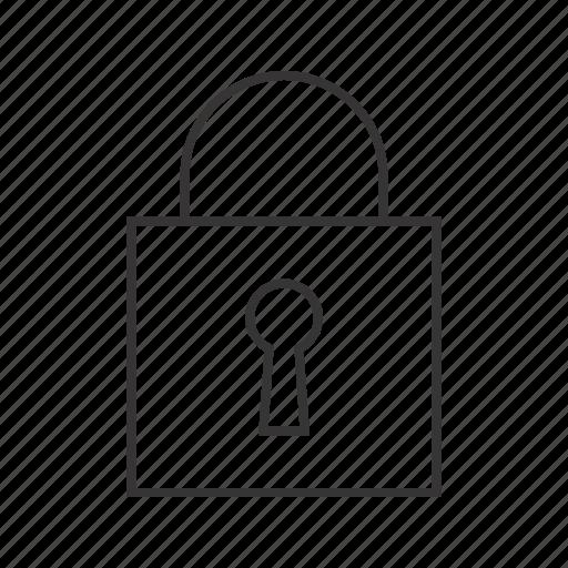 closed, padlock icon