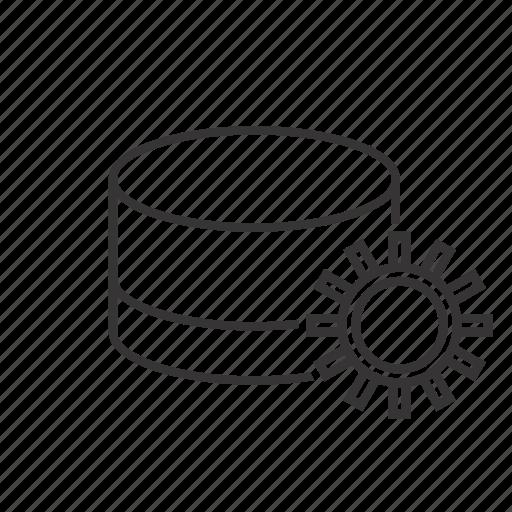 database, setting icon
