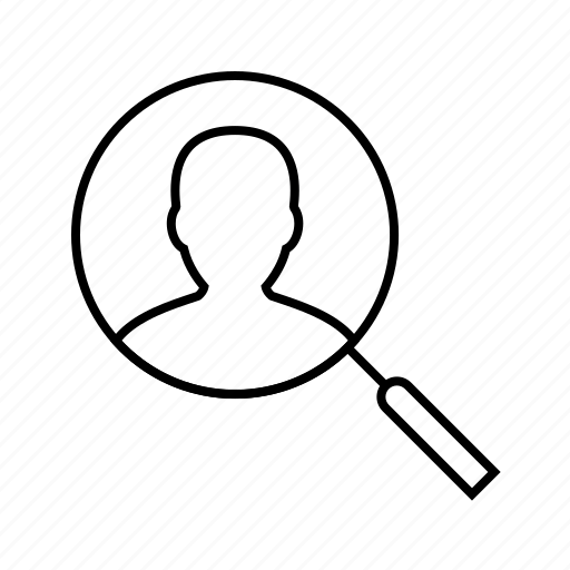 find, user icon