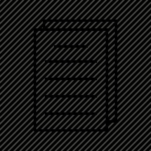 documents, user icon