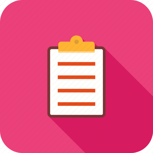 clipboard, file, list, report icon