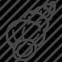 marine, sea, seashell, shell, wentletrap icon
