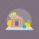 architecture, home, house, residential building, villa icon