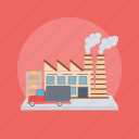 factory, industry, personal manufacturing, private industry, private mill icon