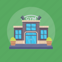 architecture, fitness gym, gym, gym building, slimming center icon