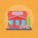 antique shop, handicraft shop, old store, store, vintage shop icon
