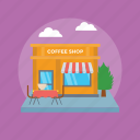 building, cafe, coffeehouse, commercial building, restaurant icon
