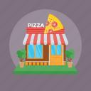 pizza place, pizza shop, pizza store, restaurant, shop building icon