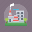 coal industry, electricity plant, grid station, power plant, power station icon