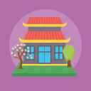 buddhist temple, holy place, religious building, sacred place, temple icon