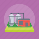 cement silo, milk silo, storage silo, storage tanks, water silo icon