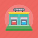 auto garage, auto service, car maintenance, car wash, mechanical services icon