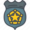 badge, emblem, police, service, work icon