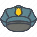 hat, police, service, uniform, work icon