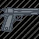 gun, police, service, work icon