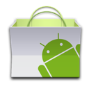 android, app, basket, market, paper bag icon