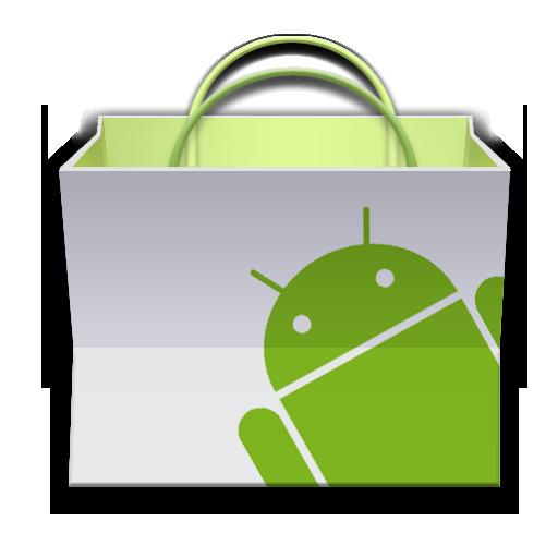 Market, android, basket, paper bag, app icon