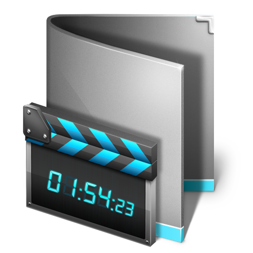 folder, movie, multimedia icon