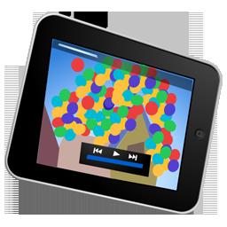 ipad, video icon
