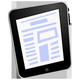 ipad, text icon