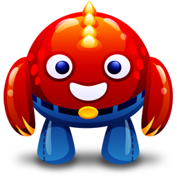monster, red icon