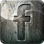 highlight, facebook, grunge, social media, metal, engraved icon