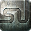 engraved, grunge, highlight, metal, social media, stumble icon