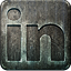 nonhighlight, linkedin, grunge, social media, metal, engraved icon