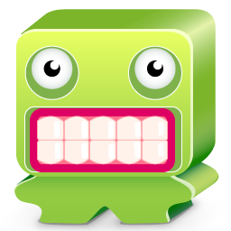 desesperate, green, monster, scare, ugly icon